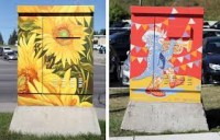 Main Street Painted Electrical Boxes